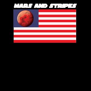 USA Mars Flagge Mars and Stripes