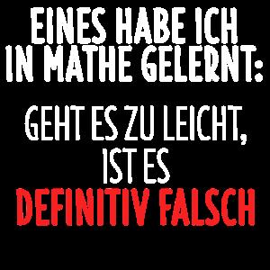 Mathe T-Shirt Mathematik Mathelehrer Geschenk