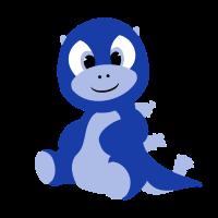 kleiner Babyzilla in Blau