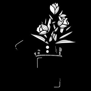 Flower Lighter Artistic Design Tee Men Women