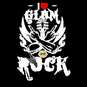I Love Glam Rock T Shirt Glam Rock Music Shirt