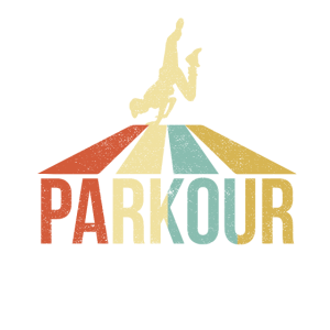 Vintage Distressed Style Parkour Silhouette