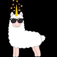 Lama Einhorn Llama Unicorn Llamacorn
