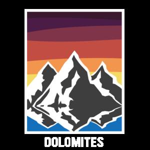 dolomiten in retro Farben