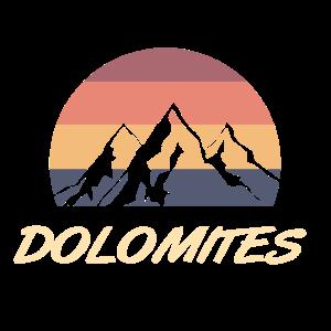 dolomiten Berge retro Farben
