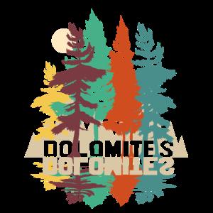 dolomiten mit Wald und Bäumen