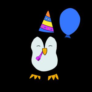 Geburtstag Birthday Pinguin