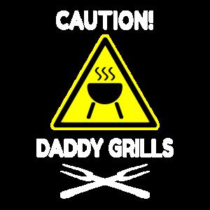 Papa grillt grillen Geschenk Vatertag