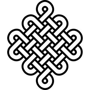 Unendlich Knoten endlos Symbol Tattoo Buddhismus