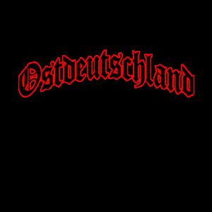 """""""Ostdeutschland"""" in Schwarz mit rotem Rand"""