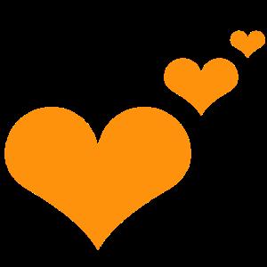 Herzen orange Geschenkidee