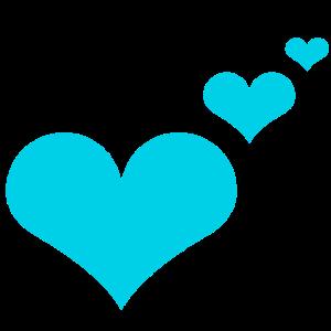 Herzen blau Geschenkidee