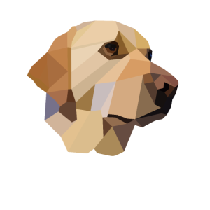 Yellow Labrador Hund Hunde Geschenk Polygon design