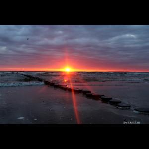 Sonnenaufgang am Strand von Bansin Nr. 64