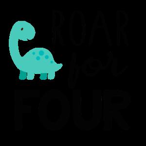 4. Geburtstag, Birthday, vierter, Dinosaurier