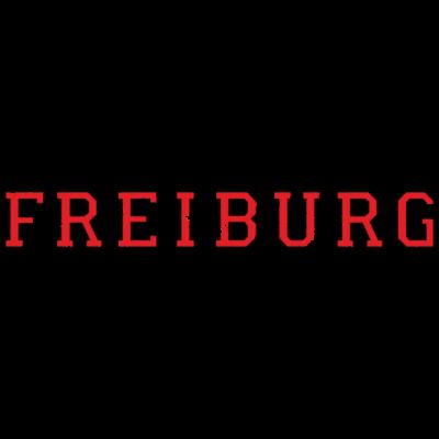 Freiburg Used Look Schwarz/Rot - Freiburg Design im aktuellen stylischen Used- bzw. Distressed Look. Zweifarbig Schwarz/Rot. - universität,uni,studenten,student,stadt,sport sportler,freiburger,freiburg im breisgau,fan,campus