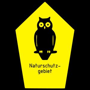 Schild Naturschutzgebiet / Eule