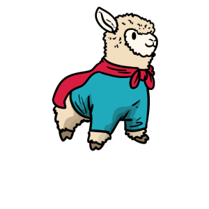 Alpaka Superheld