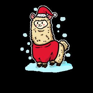 Weihnachten Alpaka Schnee Winter Afrika Geschenk