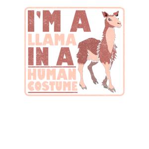 Lama im menschlichen Kostüm
