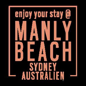 Enjoy Manly Beach Sydney Australien Urlaub Tshirt