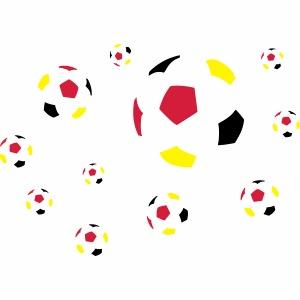 Fußball dreifarbig