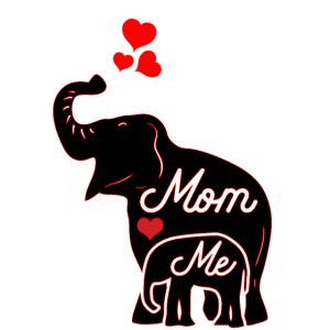 Elefantenmutter und ich. Zum Muttertag dieses Jahr.