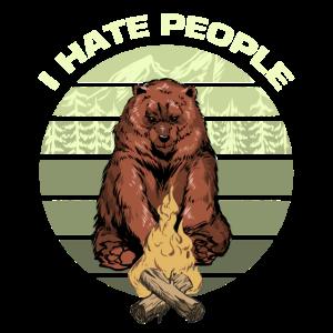 Ich hasse Menschen - Grizzly Bär am Lagerfeuer