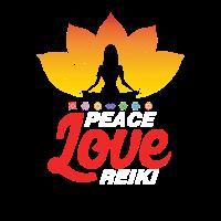 Peace Love Reiki Yoga Geschenk
