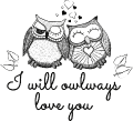 Motif Owlways love you