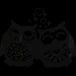 owls in love  búhos en el amor