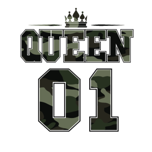 Queen 01 Partnershirt Partnerlook Camouflage