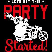 motorrad hochzeit paar party