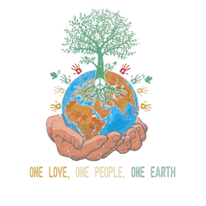 One Love One People One Earth Day World Peace Tree