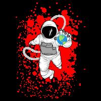 Astronauten Shirt · Welt im Griff · Geschenk