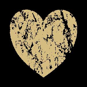 Herz aus Gold Kinder Kind Geschenkidee