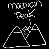 Lustiger Wandert-stückentwurf der Bergspitze