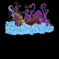 Riesenkrake Kraken Sea Monster Maritime