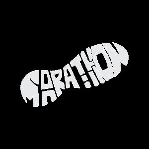 Marathon Schuhabdruck