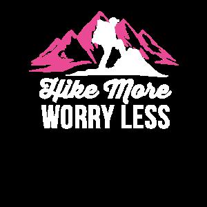 Wandern Sie mehr Sorgen weniger