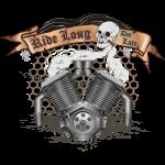 V Motor mit Banner