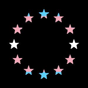Europa Flagge Regenbogenflagge Transgender