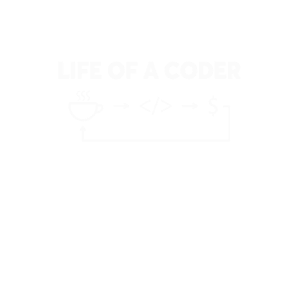Life of a coder Developer Programmer T-Shirt