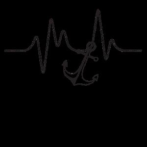 Herzschlag maritim Anker