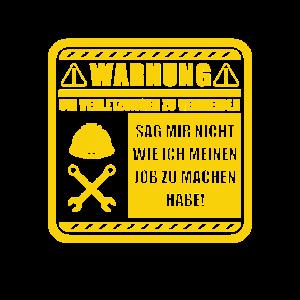 Handwerker warnung