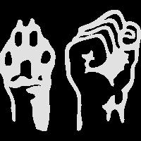 Pfote und Faust | Animal Liberation | Weiß