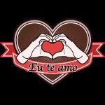 "fingeralphabet heart-brown ""Eu te amo"""