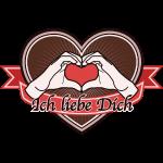"fingeralphabet heart-brown ""Ich liebe Dich"""