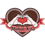 "fingeralphabet heart-brown ""Mahal kita"""