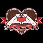 """fingeralphabet heart-brown """"Tá grá agam duit"""""""